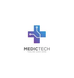Medical technology logo design vector