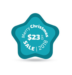 Merry christmas sale badge vector
