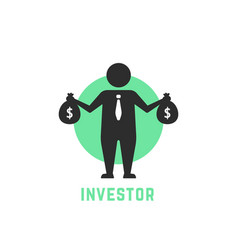 money benefit symbol with investor icon vector image