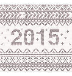 New year beige knitted background vector