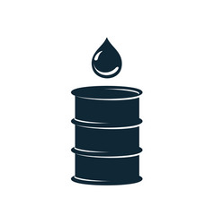 oil fuel barrel oil drop simple flat icon vector image