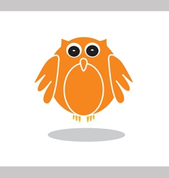 Owl icon in orange color on white background vector