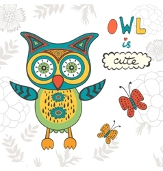 Owl is cute vector
