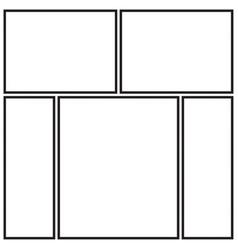 Photo collage templates vector