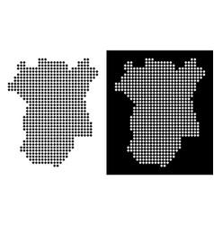 Pixel chechnya map vector