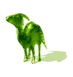 poligonal dinosaur vector image