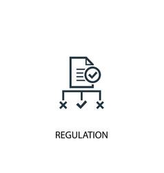 Regulation icon simple element vector