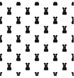 retro corset pattern seamless vector image