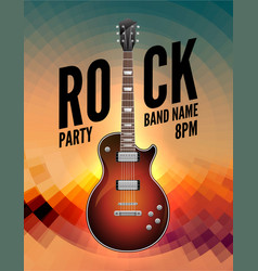 Rock music live concert poster flyer rock party vector