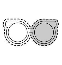 Round glasses frame icon image vector