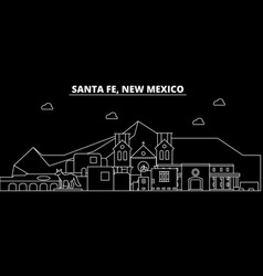 Santa fe silhouette skyline usa - santa fe vector