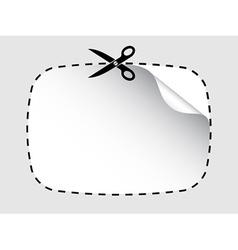 scissors cutting sticker vector image