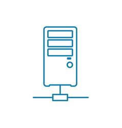 Server node linear icon concept server node line vector