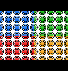 Set of colorful seamlessly repeatable circle vector