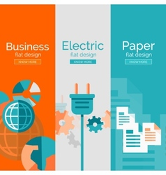 Set of flat design concepts - business electric vector
