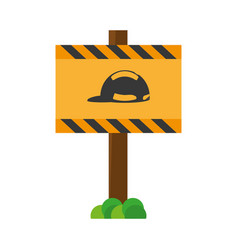 Signal caution safety helmet required vec vector