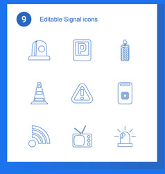Signal icons vector