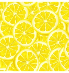 Sliced lemon seamless background vector