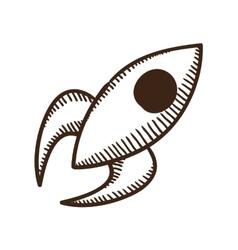 Soaring rocket ship symbol vector