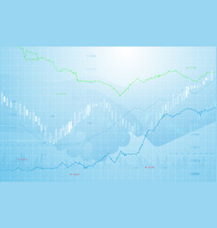 Stock market chart with business hand shake vector