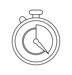 Stopwatch fast delivery symbol outline vector