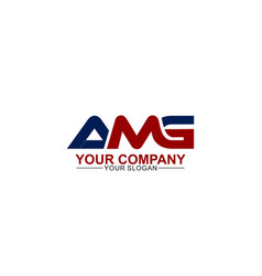 Strong initial amg logo template vector