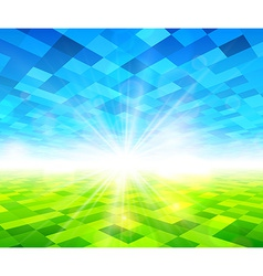 Summer view blurry field background vector image