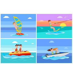 Summertime activities set vector