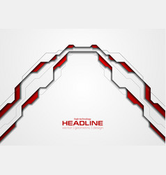 Technology red and white background vector