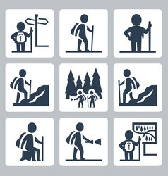 traveller icons set vector image