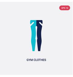 Two color gym clothes icon from fashion concept vector