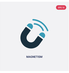two color magnetism icon from science concept vector image