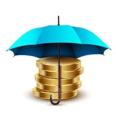 umbrella blue gold vector image