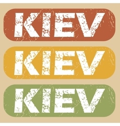 Vintage Kiev stamp set vector