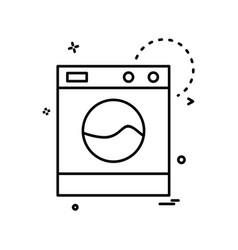 washing machine icon design vector image
