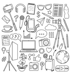 Blog object set vector