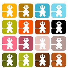 Colorful Men Icons - Symbols Set Isolated on White vector image