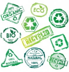 eco stamp vector image vector image
