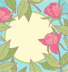 Flower vintage pink vector image
