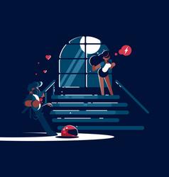 loving boyfriend and girl vector image vector image