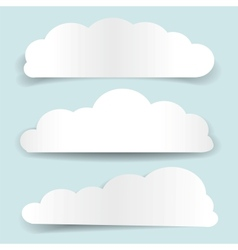 set of cloud-shaped paper banners vector image