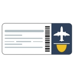 airplane ticket icon vector image