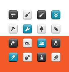 Construction tools buttons vector image vector image