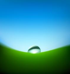 raindrop illustration vector image vector image