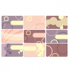 set of cute business cards vector image vector image
