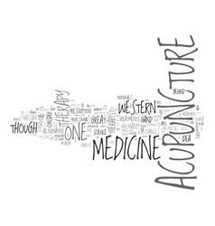 Acupuncture versus western medicine text word vector
