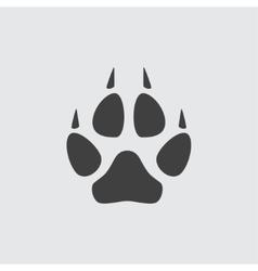 Animal paw icon vector image
