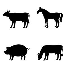 Farm animals set Livestock vector image vector image