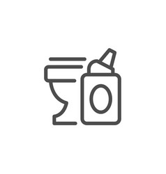 toilet cleaner line icon vector image vector image
