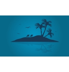 Beautiful islands of silhouette at summer vector